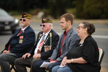 Senator Betsy Johnson, Mayor Henry Balensifer, VFW Leader Leroy Dunn_resize