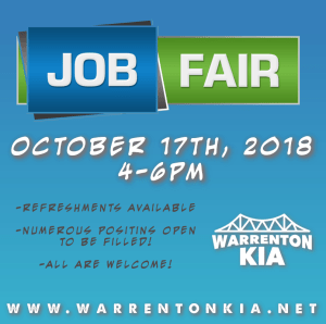 Warrenton KIA Job Fair @ Warrenton KIA |  |  |