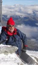 Au sommet du Mont Pourri (Vanoise), 3800m.