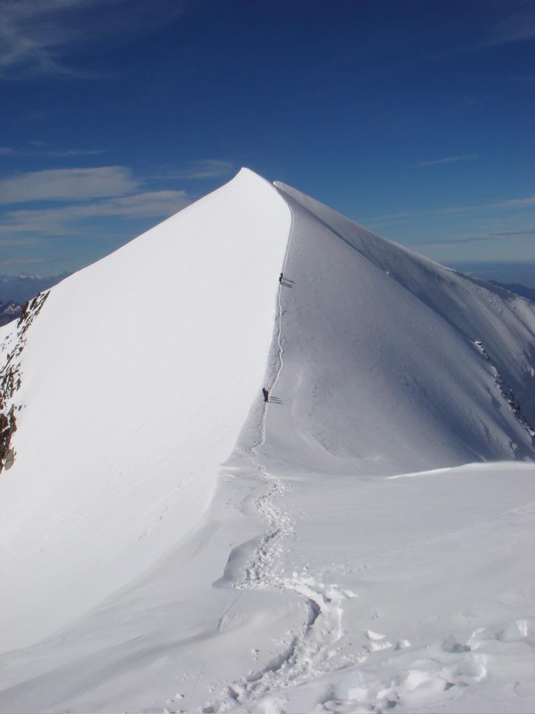 Au sommet des Dômes de Miage