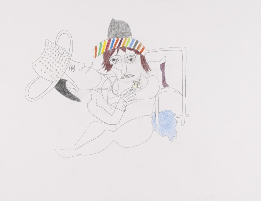 Couple entrelacé - Peinture de Claude Tironneau