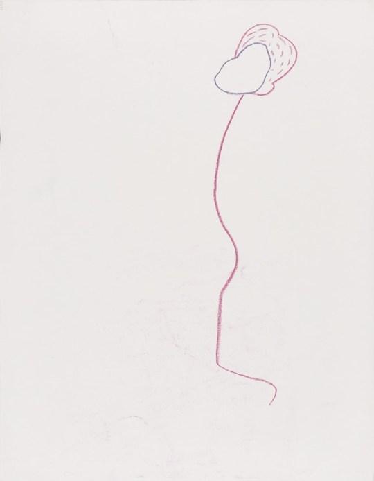 femme en fil de fer - Dessin de Claude Tironneau