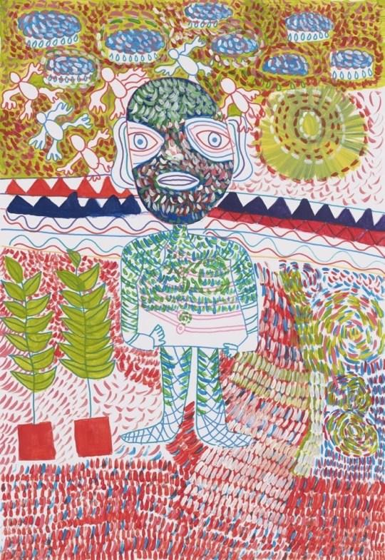 Homme debout - Peinture de Claude Tironneau