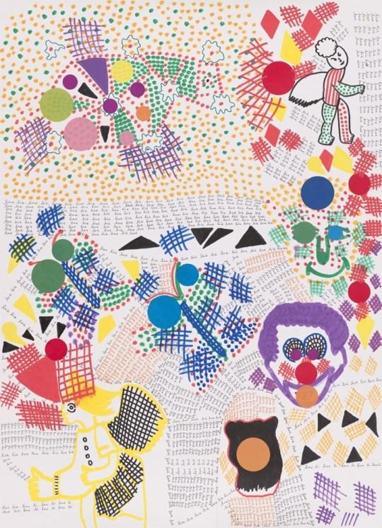 Peinture - Traits croisés et pointillés - 2016 - Claude Tironneau, artiste peintre