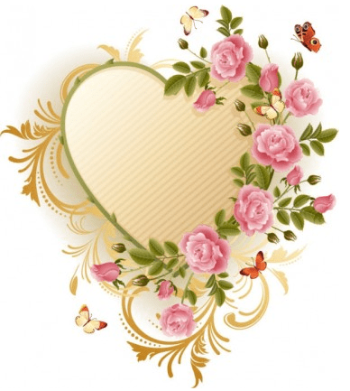 Exquisite-roses-butterfly-vector