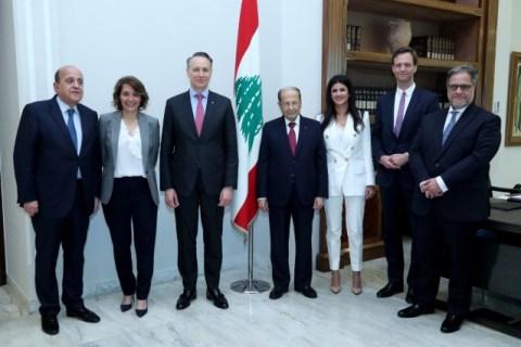 President Michel Aoun meets Mr. Thomas Buberi. AXA Group_jpg