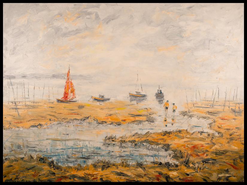 Marée basse - Huile sur toile 116x89 cm