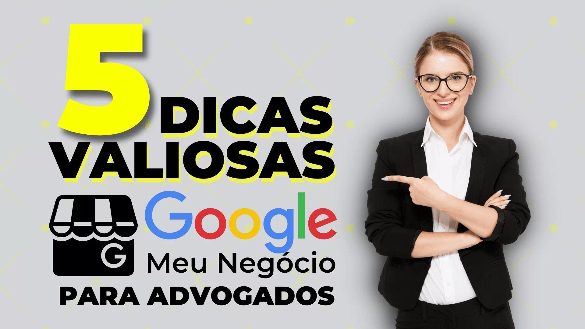 5 Dicas Google Meu Negócio