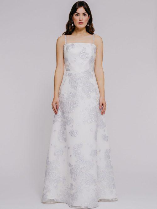Silk organza Aline gown