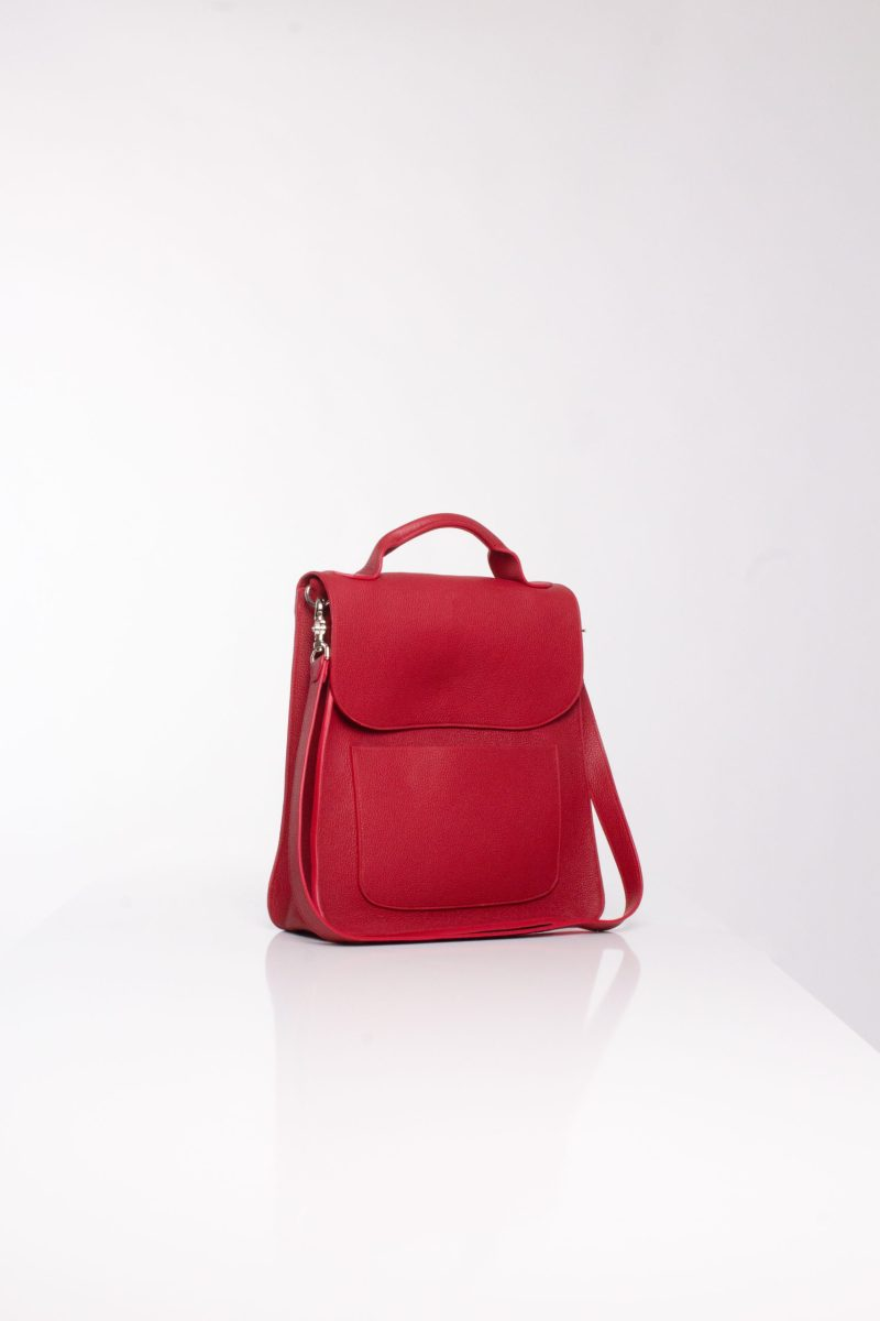 """""""Red leather cross bag"""""""