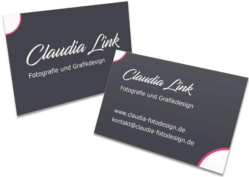 Visitenkarten Für Claudia Link Fotografie Und Grafikdesign