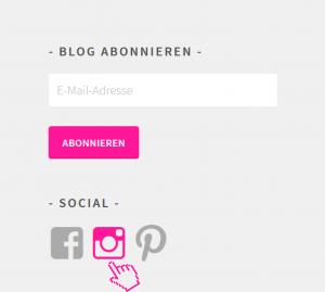 Instagram Button auf www.claudia-fotodesign.de