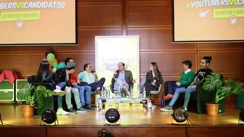 Claudia López en el debate #YouTubersVsCandidatos
