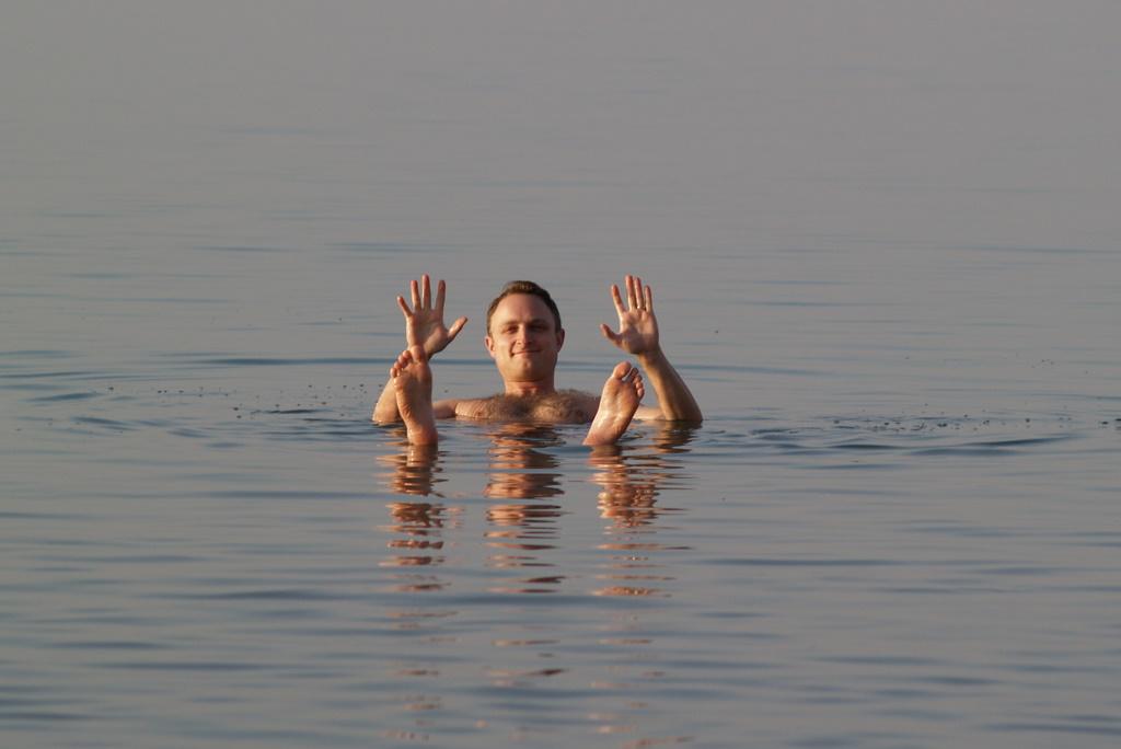 Mathias im toten Meer
