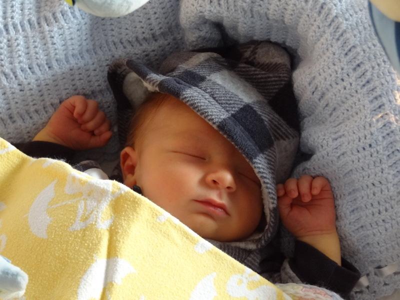 Lucas David friedlich schlafend