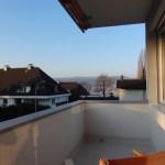 Blick von unserem Balkon auf den Zürichsee