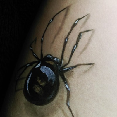 MakeUp Spinne fuer Halloween
