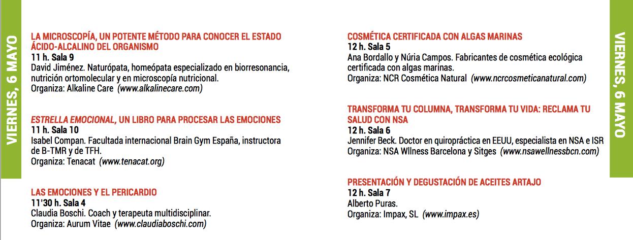 Claudia Boschi ponente Liberación Pericardio en BioCultura Barcelona mayo 2016