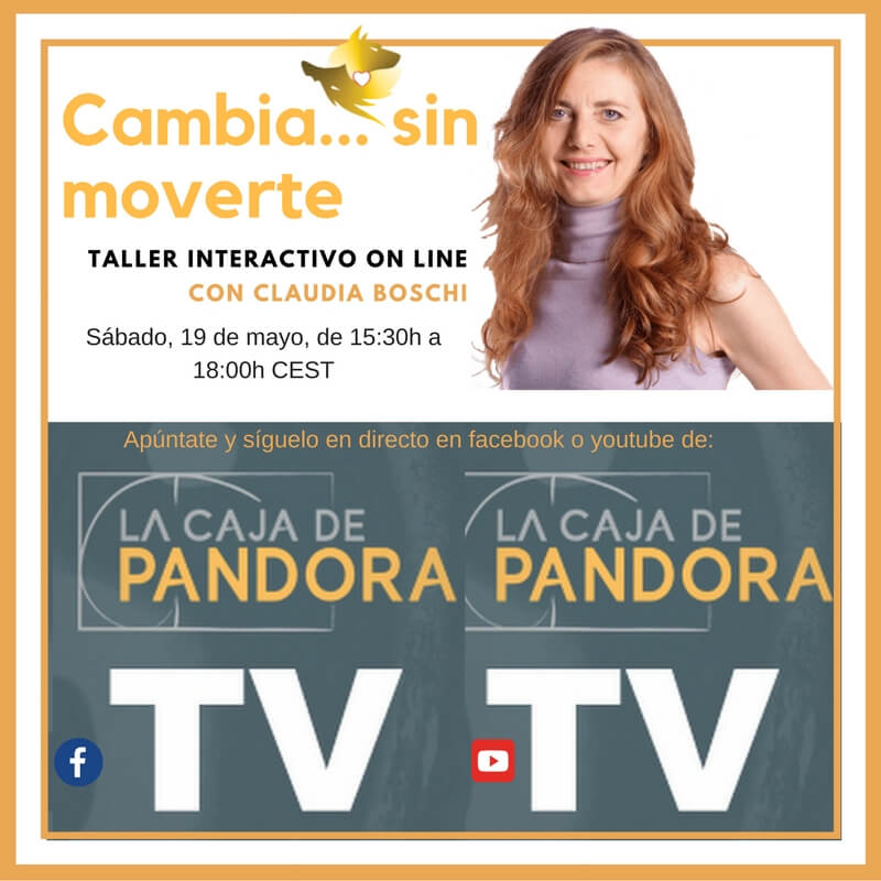 Cambia...sin moverte. Taller on line Claudia Boschi