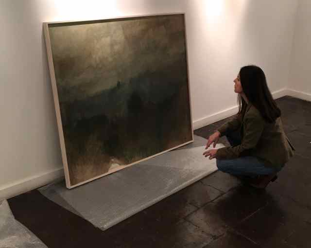Claudia Campaña. Montaje exposición 2017