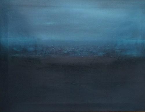 Oil and resin on canvas Cobalt blue on black September 2015 - Claudia De Grandi
