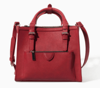 Mini City Bag With Zips Red