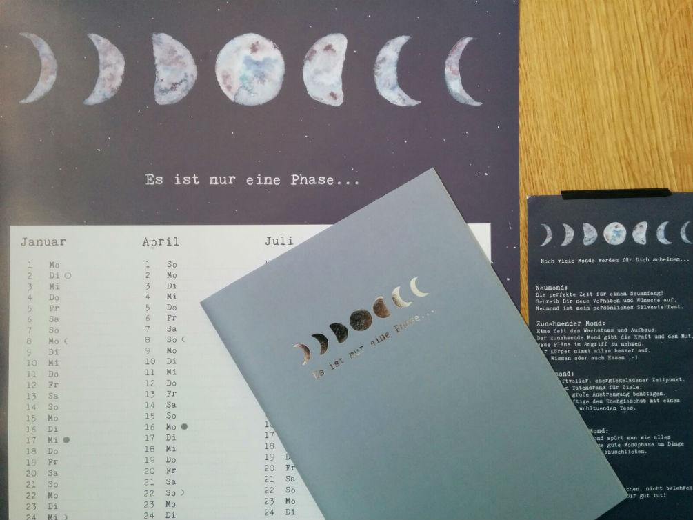 Mondphase Kalender von Anna Cosma