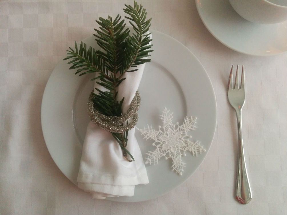Plauener Spitze Heimtextilien Schneeflocke