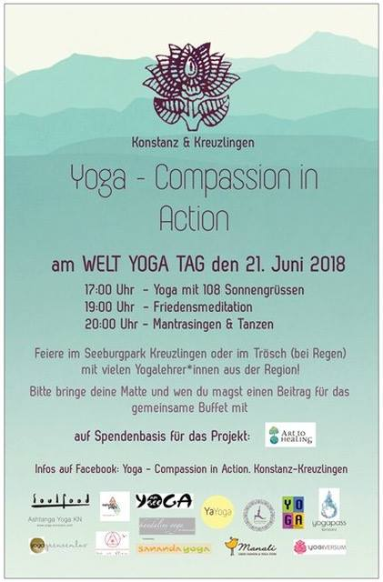 Weltyogatag mit Yoga - Compassion in Action