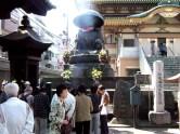 Visite du temple (Sugamo, Tokyo)