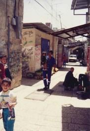 Dans le quartier arabe de la vieille ville de Jérusalem