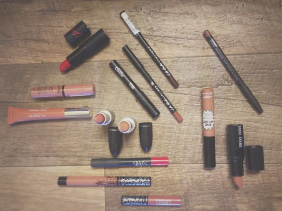 My favorite lip products