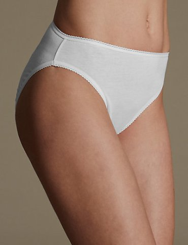 M&S COLLECTION 5 Pack Pure Cotton High Leg Knickers