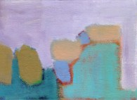 """Small landscape, Day 21. 5"""" x 7"""" on canvas board."""