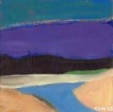 """Small Landscape, Day 2 - 6"""" x 6"""" on Masonite."""