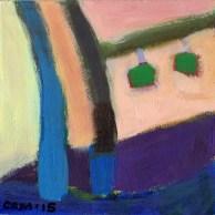 """Small Landscape Day 11 - 6"""" x 6"""" on Masonite."""