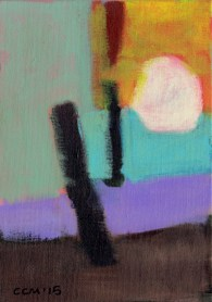 """Small landscape. Day 12 - 7"""" x 5"""" on canvas board."""