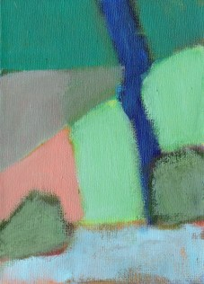 """Small landscape, Day 77 - 7"""" x 5"""" on canvas board."""