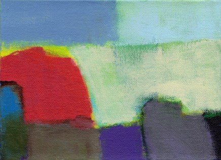 "Small landscape, Day 26 - 5"" x 7"" on canvas board."
