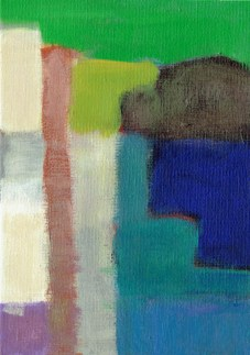 """Small landscape, Day 84 - 7"""" x 5"""" on canvas board."""