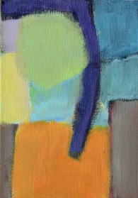 """Small landscape, Day 34 - 7"""" x 5"""" on canvas board."""