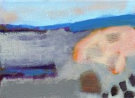 """Small landscape, Day 22 - 5"""" x 7"""" on canvas board."""