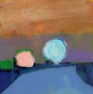 """Small landscape Day 46 - 6"""" x 6"""" on Masonite"""