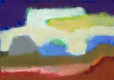 """Small landscape Day 79 - 5"""" x 7 """" on canvas board."""