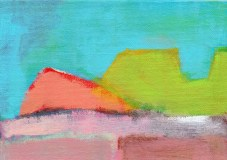 """Small landscape, Day 87 - 5"""" x 7"""" on canvas board."""