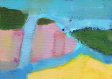 """Small landscape, Day 78 - 5"""" x 7"""" on canvas board."""