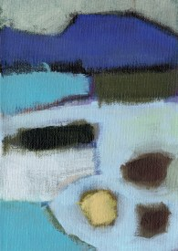 """Small landscape, Day 36 - 7"""" x 5"""" on canvas board."""
