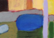 """Small landscape, Day 68 - 5"""" x 7"""" on canvas board."""