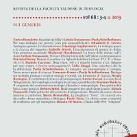 """Protestantesimo 3-4/2013: """"Sui generis"""""""