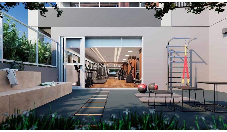 Brooklin Bricks - Perspectiva ilustrada do Outdoor Fitness